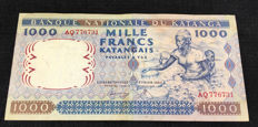 Katanga - 1000 Francs 26.02.1962 - Pick 14