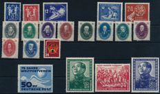 GDR of East Germany - 1949 - 1951 - batch of stamps including German-Chinese friendship, Michel 286-288