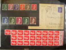 Germany 1941 - Lot of HITLER 1941 stamps and a post card