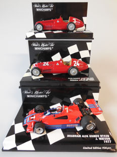 Minichamps - Scale 1/43 - Lot with 3 classic Alfa Romeo sports car models