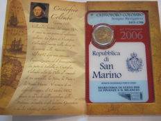 San Marino - €2 from 2006 'Christopher Colombus'