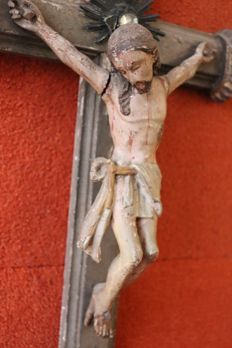 Wooden Crucifix - 19th century