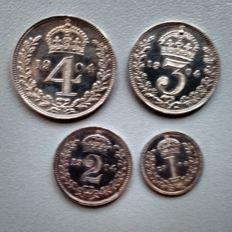 United Kingdom - 1, 2, 3 and 4 Pence 1904 (Maundy Money) Edward VII (4 pieces) in set - silver