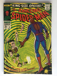 "Marvel Comics - The Amazing Spider-Man Annual #5  - ""1st appearance Peter Parker's Parents!"" - 1x sc - (1968)"