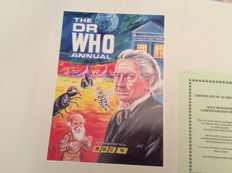 Walt Howarth signed Limited edition  print  of  First Dr who annual