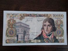 France - 10 000 francs 7.6.1956 - Bonaparte - Fayette 51.3