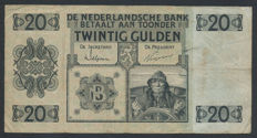 Netherlands - 20 guilders 1926 - Sailor - Mevius 57-1a