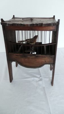 Fruit wood bird cage, ca. 1900