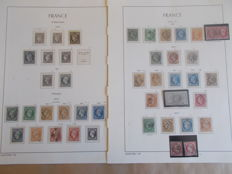 France 1849/1870 - Naléon and Cérès type collection between Yvert no. 3 and 38, including Calves signed no. 33