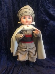 French boy doll in beautiful North African military costume (from the French period)
