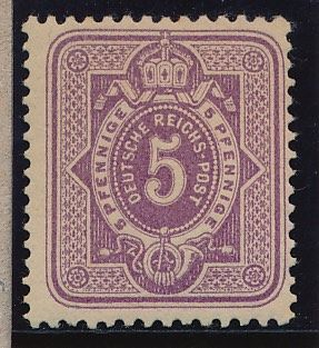 German Reich - 1875 - 5 Pfennig, greyish purple, Michel 32 with Eichele photo certificate