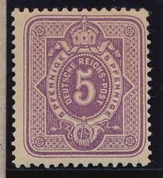 German Reich - 1875 - 5 pfennig greyish lilac, Michel 32, with Eichele photo attest