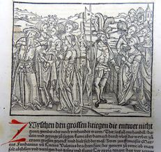 Livius Livy - Woodcut leaf - A State and Calm between the Great Punic Wars - 1505