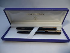 WATERMAN Graduate luxury pen set in marbled anthracite, unused and in a mint condition