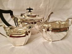 Sterling Silver Tea set, three pieces, Birmingham, 1928