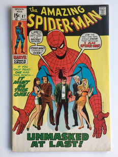 Marvel Comics - The Amazing Spider-Man #87 - Unmasked at Last! - 1x sc - (1970)