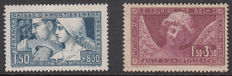 France 1928/1930 - 'Caisse d'Amortissement' - Yvert no. 252 and 256