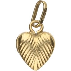 14 kt yellow gold pendant in the shape of a small heart. – length x width: 1.5 x 1 cm