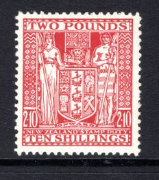 New Zealand 1951 - High Value £2/10s Postal Fiscal, Stanley Gibbons F163