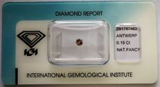 Natural Fancy Greyish Pink Diamond 0.15 ct  with IGI cert **No minimum price***