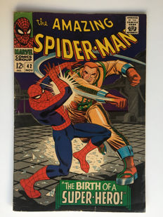 Marvel Comics - The Amazing Spider-Man #42 - first time Mary Jane Watson's face is shown - 1x sc - (1966)