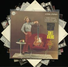 Chet Atkins lot of 10 albums including rare US and UK releases