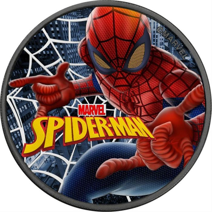 Tuvalu - 1 Dollar 2017 'Marvel Spiderman' ruthenium and colored 1 Oz - Silver