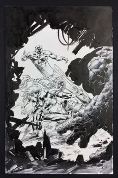 Original Signed Cover Art by Mike Deodato Jr - Marvel Comics - Fear Itself: The Fearless no. 1 Variant Cover - (2011)