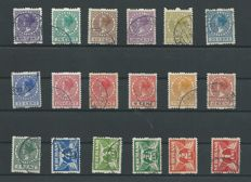 The Netherlands 1925 - Double-sided syncopated - NVPH R1/R18