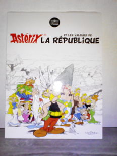 "France - 10 Euros and 50 Euros 2015 - ""Astérix et les valeurs de la république"" - 24 coins of 10 Euros and 2 coins of 50 Euros - Silver"