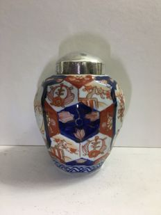Facetted tea caddy with 925 silver cap - Japan - 1868 - 1890 (Meiji period)