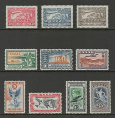 Greece 1933 - Zeppelin and Airmail - Michel 352/354 + 355/361