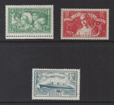 France 1931/1933 - 3 different issues - Yvert n° 269, 300 and 308