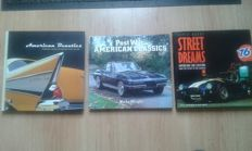3 books with American cars