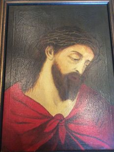 Old painting of Jesus, 1st half of the 20th century
