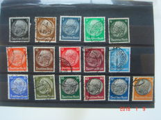 Germany 1933 - Batch of stamps, full HINDENBURG series and others from the 1930s, Germany