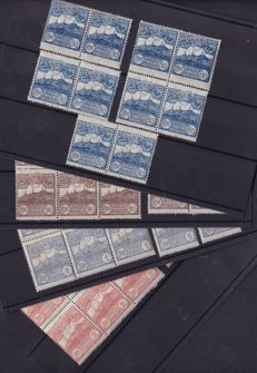 San Marino 1921/1923 - composition of blocks, pairs and strips with Sass.
