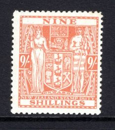 New Zealand 1936/39 - 9s Postal Fiscal, Stanley Gibbons F176