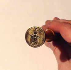 Seal for sealing wax with polish coat of arms Jelita