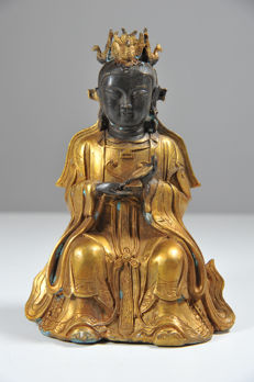 Bronze Guan Yin - China - late 20th/21st century