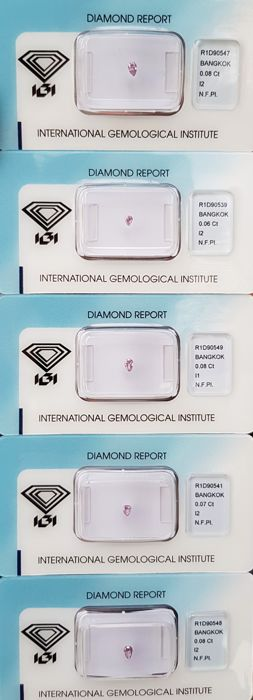 Lot of Natural Diamonds - 0.37 ct - Natural Fancy Pink  ** I2 ** Very Low ReservePrice **