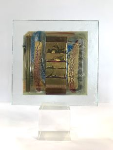 Maxence PAROT- Unique Sculpture with gold fusion (dated/signed)