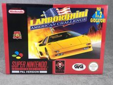 Súper Nintendo Game - Lamborghini American challenge - PAL / EUR - Text on screen in English