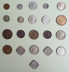 The Netherlands - ½ cent up to and including ½ guilder 1862/1944 Willem III and Wilhelmina - 21 different coins