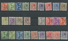 The Netherlands 1926/1930 - double-sided, four-sided and double-sided syncopated in corners - NVPH R19/R31, R33/R56, R57/R70