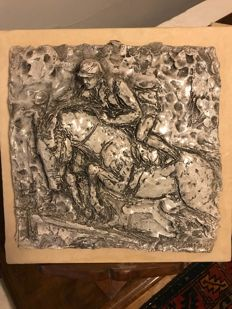 Unique Bas-relief Ceramic Work signed by Eugenio Lenzi