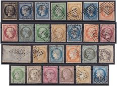 France 1849/1872 - Selection of classics beetween - Yvert 3 to 60