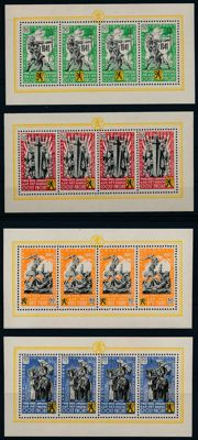 German occupied Belgium - 1941 - Flemish Legion, small set of sheets of four, Michel I-IV