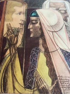 After Jan Toorop(1858-1928) de joodse zanger - from 1923