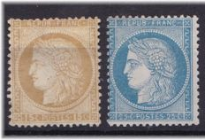 France 1871/73 - Yvert 55 and 60A